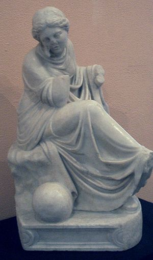 History of Málaga - Roman statue of Urania, the muse of Astronomy. It decorated the peristyle of a villa near Malaca.