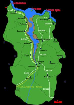 Urdaibai estuary - Image: Urdaibai detalle