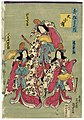 Utagawa Kunisada II - Daishô mai - Actors Onoe Eizaburô IV, Iwai Shijaku II, and Kawarazaki Kunitarô I.jpg