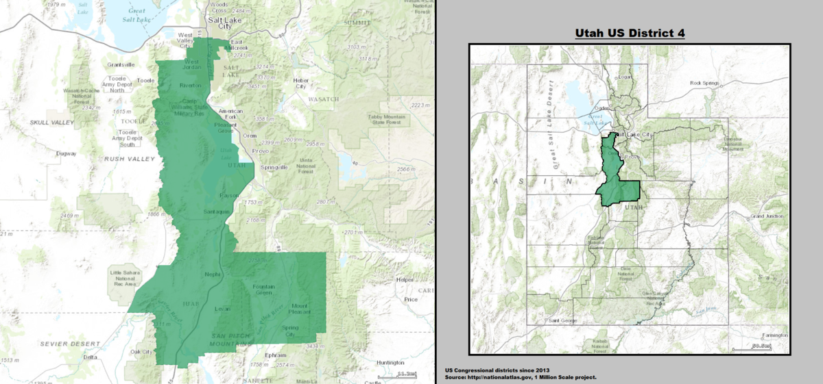 Utahs Th Congressional District Wikipedia - Us map utah