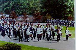 Valley Forge Military Academy and College - VFMA Regimental Band on Parade, circa 1970
