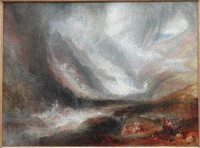 Valley of Aosta, Snowstorm, Avalanche, and Thunderstorm, 1836-1837, by Joseph Mallord William Turner - Art Institute of Chicago - DSC09550.JPG