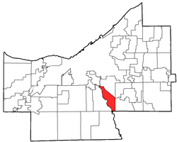 Location of Valley View in Cuyahoga County