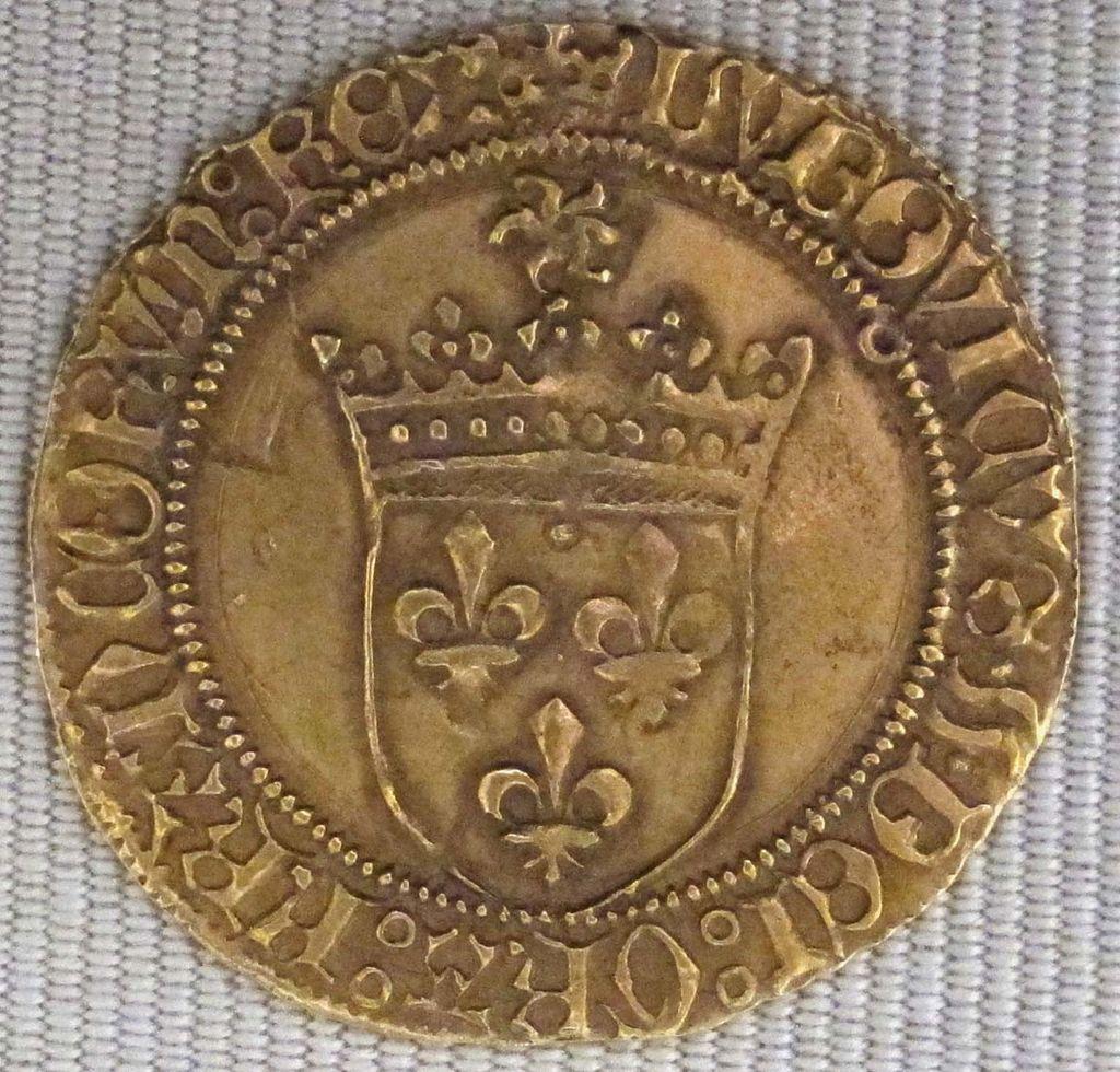 Valois, luigi xi, scudo d'oro con sole, 1475.JPG