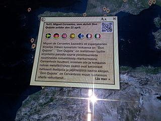 Inledningen av en Wikipediaartikel på touchbordet.