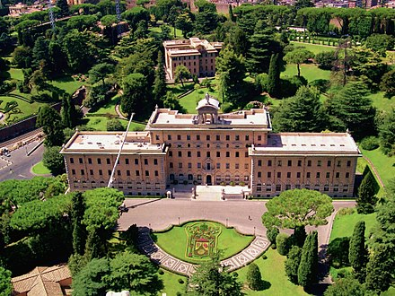 Palace of the Governorate of Vatican City State Vatican Gardens 4.jpg