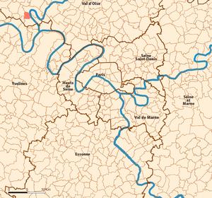 Vauréal - Image: Vaureal map