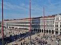 Venezia Basilica di San Marco Terrasse Blick auf die Piazza San Marco 6.jpg