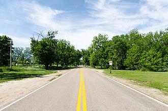 Venice, Nebraska - North on Campanile Road