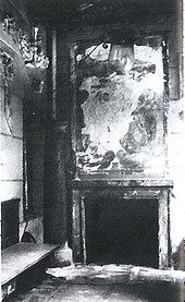 Verandakamin (Foto LDA Um 1945, Verfremdete Darstellung)