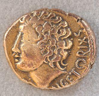 Arverni - Gold stater of Vercingetorix, Cabinet des Médailles.