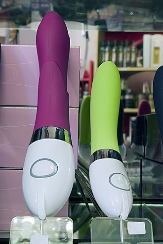 Vibrator (sex toy) - Two vibrators in a sex shop
