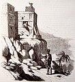 Vida y viajes de Cristobal Colón, 1851 Entrevista del Adelantado y Roldán en el fuerte de la Concepción (3819532971).jpg
