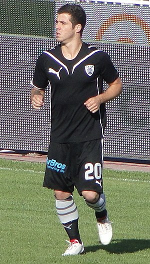 English: Vieirinha playing for PAOK in 2010.