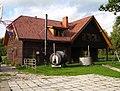 Viesu māja. Ārpusē mazā pirtiņa, ūdens kubls. Guest house. Small bath-house and wather-tub in yard. September, 2011 - Ivars Indāns - Panoramio.jpg