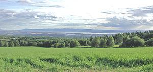 Hedmarka - View of parts of Hedmarken from Vang, near Hamar.