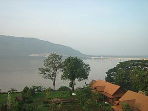 View of Mekong River in Pakse