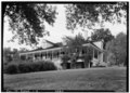 View from southwest. - Pierre Menard House, County Highway 6, Fort Gage, Randolph County, IL HABS ILL,79-FORGA,1-2.tif