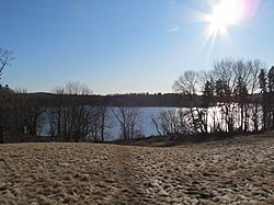 View of Lake Cochichewick from the Brooks School, North Andover MA.jpg