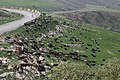 Views around the river, mountains, cemetery, and Ottoman-era fort at Dween 37.jpg