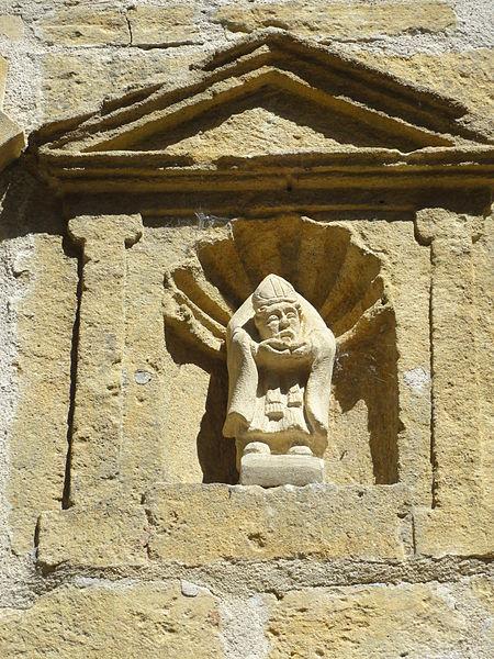 Ville-Houdlémont (Meurthe-et-M.) église Saint-Denis statue de la façade