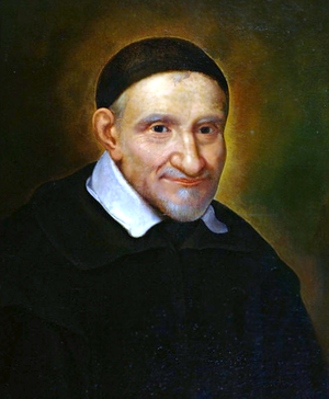 Vincent de Paul - A portrait of St. Vincent de Paul by Simon François de Tours (17th century)