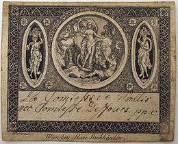 Carte De Visite La Comtesse Wallis Nee Desfours Ppc Vienne Circa 1800 Signifie Pour Prendre Conge