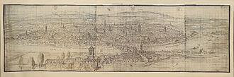 Anton van den Wyngaerde - Zaragoza 1563