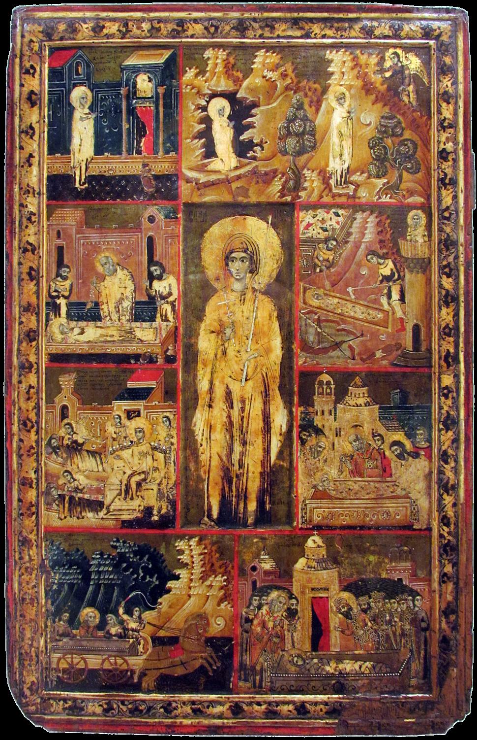 Vita icon of St Paraskeve of Trnovo (Patriarchate of Peć, 1719-20)