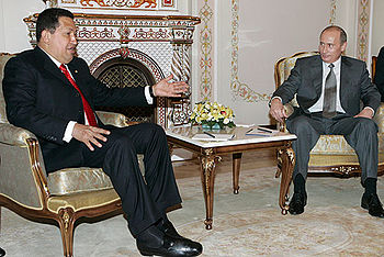 Vladimir Putin with Hugo Chavez 28 June 2007-1