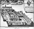 Vogelperspectief van het klooster naar litho naar tekening van 1717 - Maastricht - 20147366 - RCE.jpg