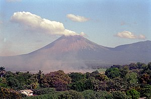 San Cristóbal Volcano - San Cristóbal from the Ingenio San Antonio sugar mill in Chichigalpa, Nicaragua