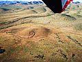 Volcanic vent at head of lava flow Animas New Mexico.JPG