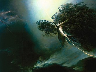 Maksim Vorobyov (painter) - Oak Fractured by Lightning (an allegory on his wife's death)