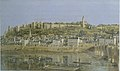 Vue de Chinon en 1847, Peinture de Fortuné Viau.jpg