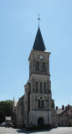 Blet - The church of Saint-Germain, in Blet
