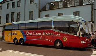 West Coast Motors - Citylink branded Irizar i6 bodied Scania K114 in Inverary in September 2013