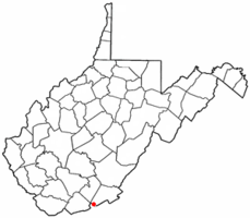 Location of Peterstown, West Virginia