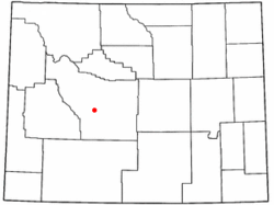 Location of Lander, Wyoming