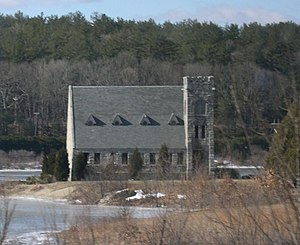 West Boylston, Massachusetts - Image: Wachusett Stone Church 2