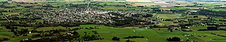 Waimate - Panorama of the view from the White Horse overlooking Waimate township.