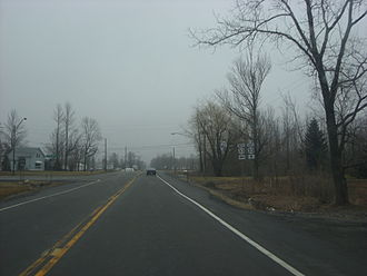 New York State Route 33 - The junction of Genesee Street (NY 33) and Walden Avenue as seen from Walden Avenue eastbound