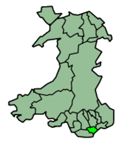 Cardiff shown alongside other principal areas of Wales