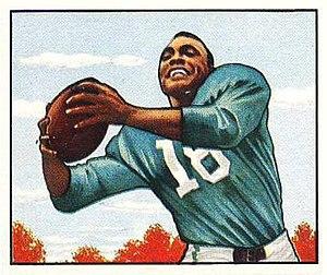 Wallace Triplett - Triplett on a 1950 Bowman football card