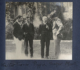 Walter James Redfern Turner, Anthony Asquith, Charles Percy Sanger, Mark Gertler by Lady Ottoline Morrell.jpg