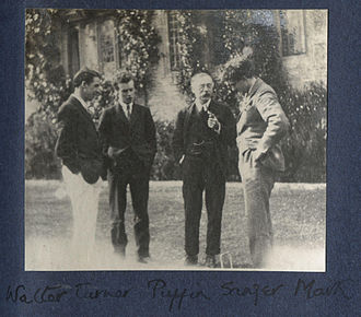 Anthony Asquith - Walter J. Turner, Asquith, Charles Percy Sanger, Mark Gertler in photo taken by Lady Ottoline Morrell