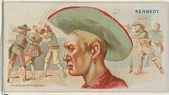 Walter Kennedy (pirate) - Image: Walter Kennedy, Overboard He Goes, from the Pirates of the Spanish Main series (N19) for Allen & Ginter Cigarettes MET DP835044