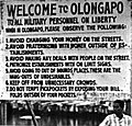 Warning sign for U.S. military personnel at Naval Station Subic Bay, in 1965-1966.jpg