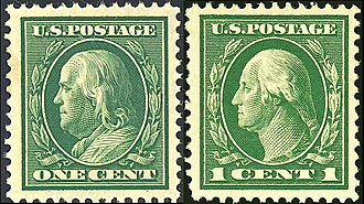 Clair Aubrey Houston - Washington-Franklin design used on issues of 1908–1922