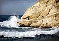 Waves in Rosh Hanikra beach גלים בחוף ראש הנקרה.jpg